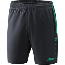 JAKO Short COMPETITION 2.0 antraciet/turkoois