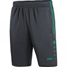 JAKO Trainingsshort Active antraciet/trukoois